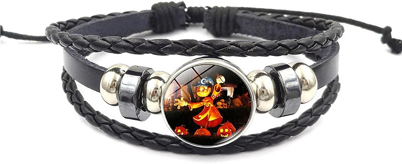 WEIBM Pulsera de cuentas de combinación de múltiples capas de joyería de la serie de Halloween