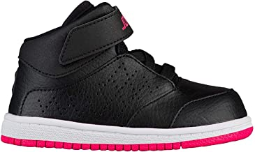 NIKE Jordan Toddler's 1 Flight 5 Premium (GT) Black/Hyper Pink-White 881437 002