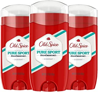 Old Spice Deodorant for Men, Pure Sport Scent, High Endurance, 3 Ounce, Pack of 3