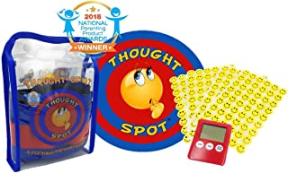 Thought-Spot - A Portable Parenting Time Out Mat with Digital Timer & Reward Stickers - 24 Inch Diameter Made from Recyclable Non-Toxic Materials