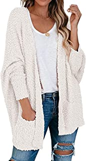 Womens Long Sleeve Cardigan Open Front Knit Sweaters Blouses with Pockets Winter Fall Casual Loose Draped Cloak Tops Coat