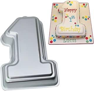 Number 1 Cake Pan- Kids 3D Birthday Cake Pan Number Cake Mold- Wedding Anniversary Baby Shower Baking Tin