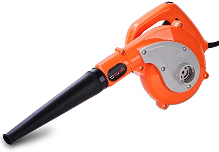 Soplador Electrico - GOXAWEE 600W Soplador Aspirador/Soplador de Aire de Velocidad Variable/Mini Soplador de Hojas/Peso Ligero y Potente + 4 Accesorios