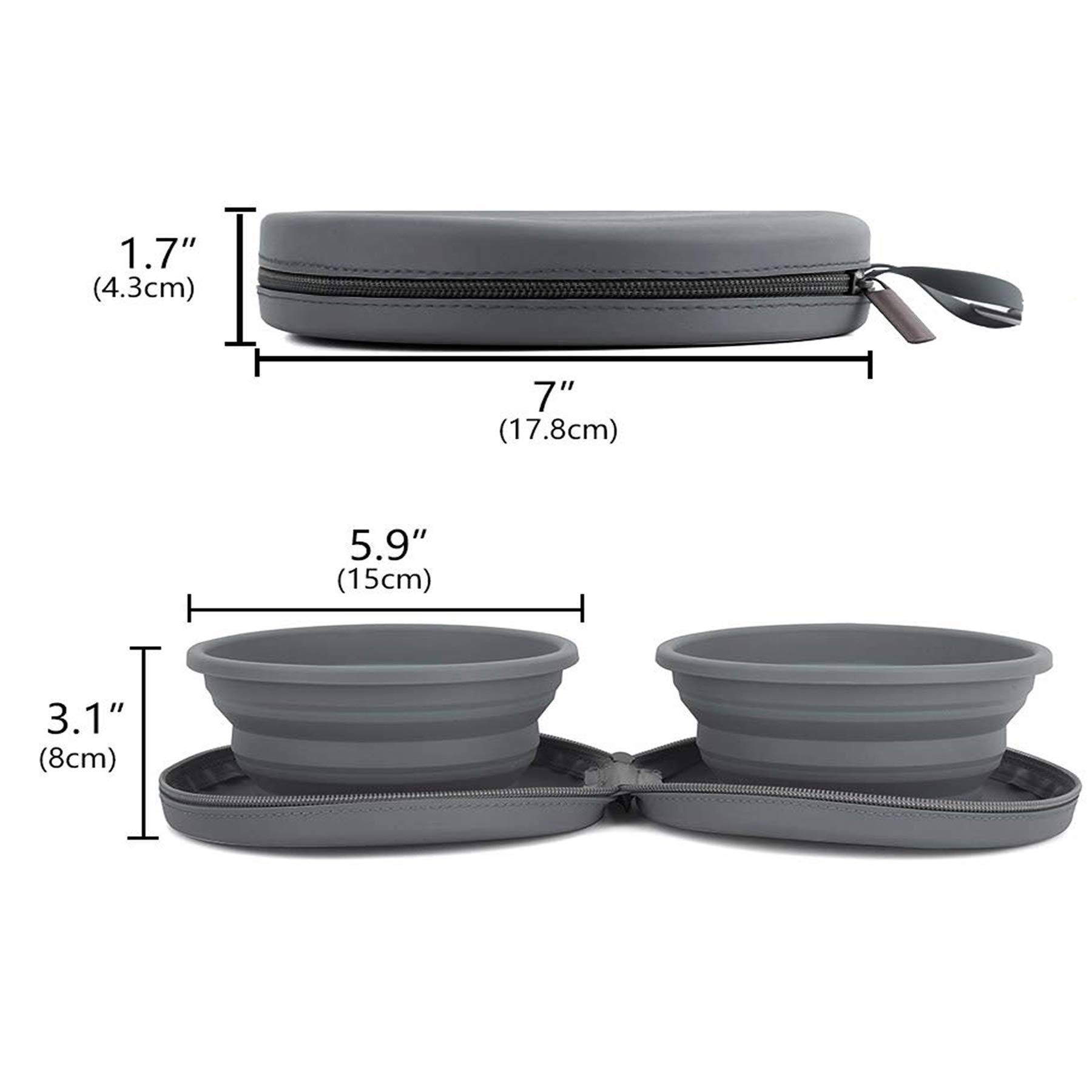 FurryFriends Collapsible Travel Bowls Water
