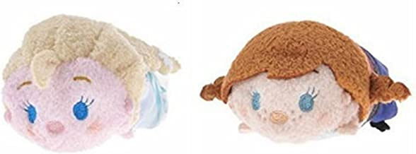 Disney Frozen Mini Tsum Tsum Anna and Elsa 2 Item Bundle 3.5 inch Plush