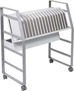 Offex School Office 16 Device Mobile Open Charging and Storage Cart for Tablets, Chromebooks