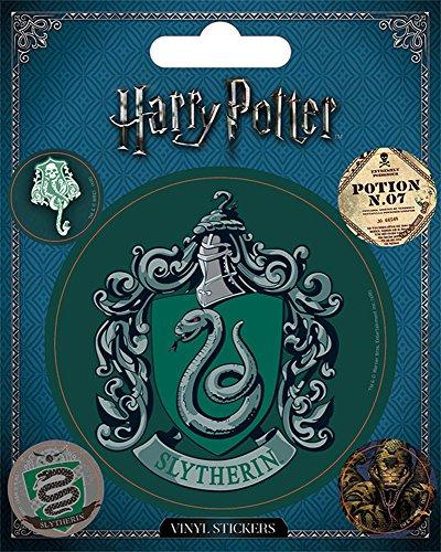 Harry Potter - Slytherin - Stickerset Set 5 Sticker Aufkleber - Grösse ca. 10x12,5 cm