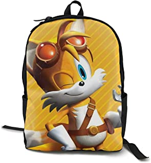 Sonic Boom-Miles Tails Prower Anime Cartoon Cosplay Canvas Shoulder Bag Backpack Popular Lightweight Travel Daypacks School Backpack Laptop Backpack