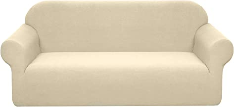 Granbest Premium Water Repellent Sofa Cover High Stretch Couch Slipcover Super Soft Fabric Couch Cover (Beige, Sofa)