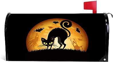 happygoluck1y Halloween kat kunst brievenbus covers magnetische standaard maat vakantie seizoensgebonden thuis tuin decor ...