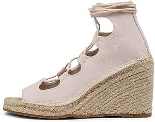 WALNUT Vine Canvas Wedge-WA Womens Shoes Espadrilles High Heels