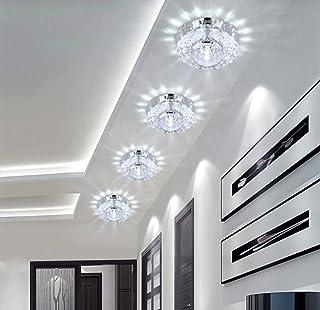 Plafonnier LED en verre cristal - Applique murale - Blanc