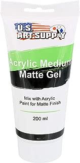U.S. Art Supply Clear Gel Medium Matte Acrylic Medium, 200ml Tube - Use to Create Transparent Colors