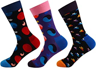 MODA CICI 3-9 Pairs Funny Socks for Men Women Colorful Cotton Novelty Socks