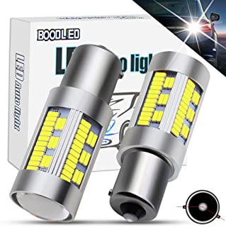 Boodlied 9-30V 20Watts 1156 P21WY 1141 BAU15S LED Bulbs 3600LM Super Bright 4014 105SMD LED Lamps For Reverse Lights,Turn Signal Lights(No Hyper Flash),Xenon White(2-Pack).