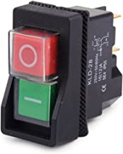 250V IP55 KJD17 KLD28 4 Pin Start Stop On Off Volt Release Switch Fit for Workshop Machines(Amazon Fulfilled)