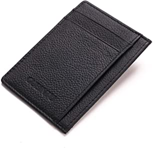Minimalist Slim Leather Wallet Pocket Card Holder Purse