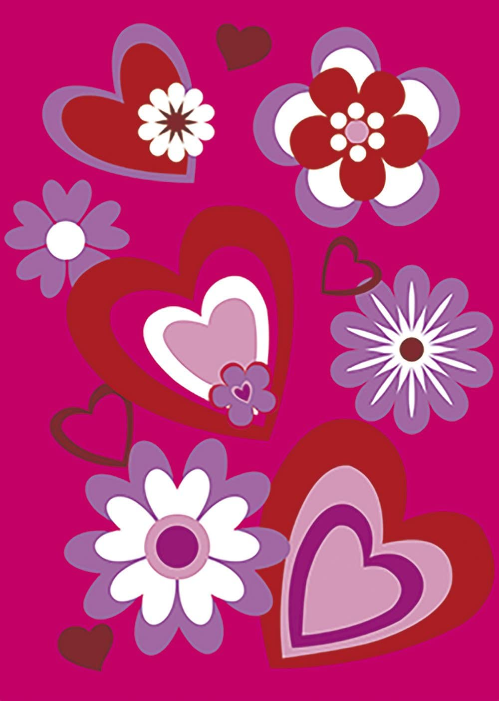 Sales of Dedication SALE items from new works Morigins Heart Flower Decorative Valentine Sided Red Day Double