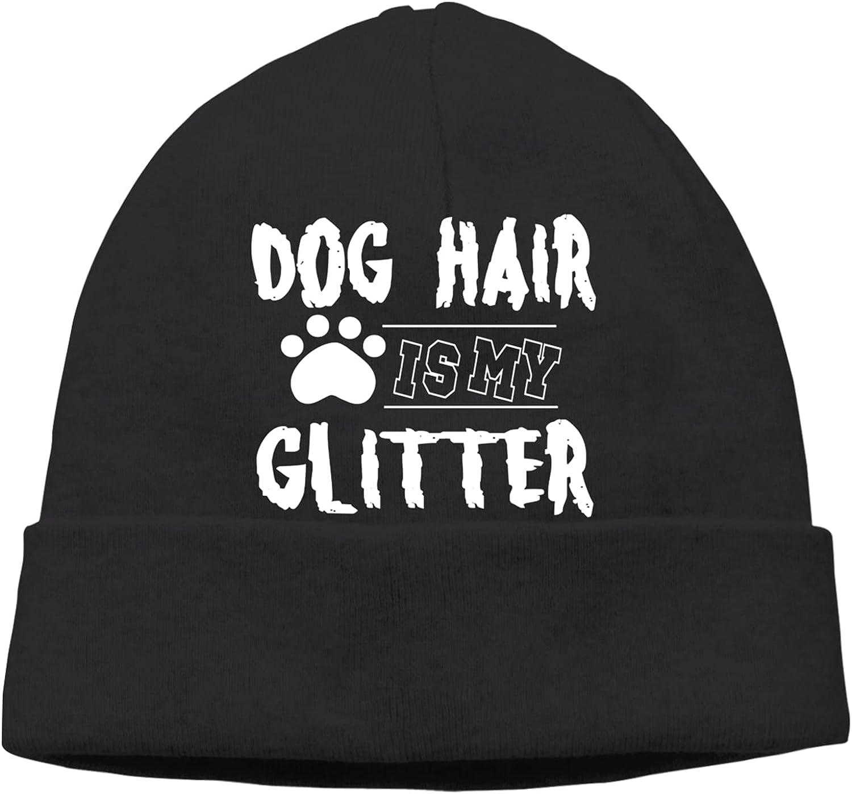 Dog Hair San Antonio Mall is My Glitter3 Slogan Vinta Cap Unisex Beanie Spring new work Hats Warm