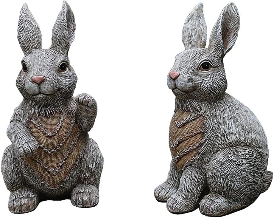 QTBH Garden Statue Outdoor Decoration New Shipping Free Simulation Rabbit G Save money