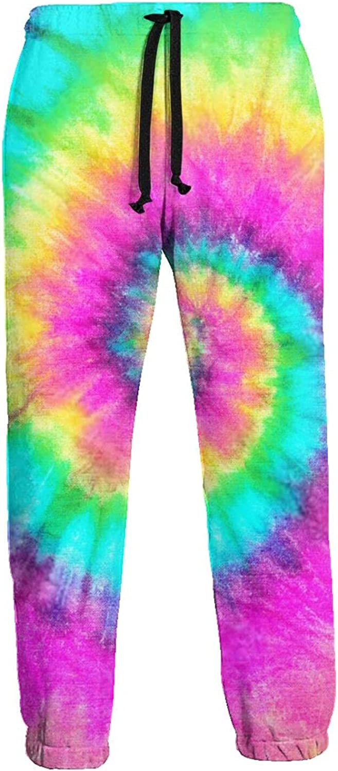 Mens Jogger Sweatpants Colorful Paint Circle Lightweight Workout Athletic Joggers Pants Trousers