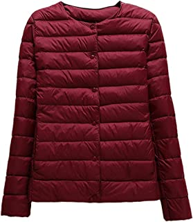 TieNew Womens/Ladies Autumn and Winter Ultra Lightweight Long Sleeves Packable Down Puffer Jacket