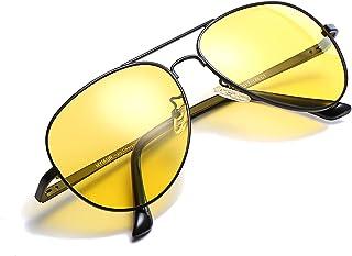 Myiaur Night HD Vision Yellow Glasses for Driving Fashion Men & Women - Polarized Lens Anti Glare