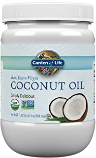 Garden of Life Coconut Oil for Hair, Skin, Cooking - Raw Extra Virgin Organic Coconut Oil, 57 Servings - Pure Unrefined Co...