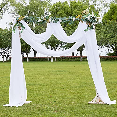 PONY DANCE Cortinas Visillos Blanco Decor Ventanas - Pañuelo Largo Diseño Moderno Cortinas Tul Colgantes para Salon Habitacion Juvenil Matrimonio, 1 Panel, 548 x 152 cm