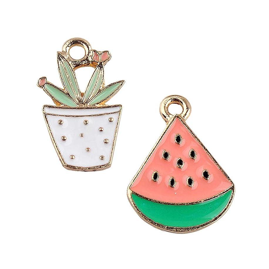 M241-E 8pcs New Cute Watermelon and Cactus Bracelet Charms Pendants Wholesale