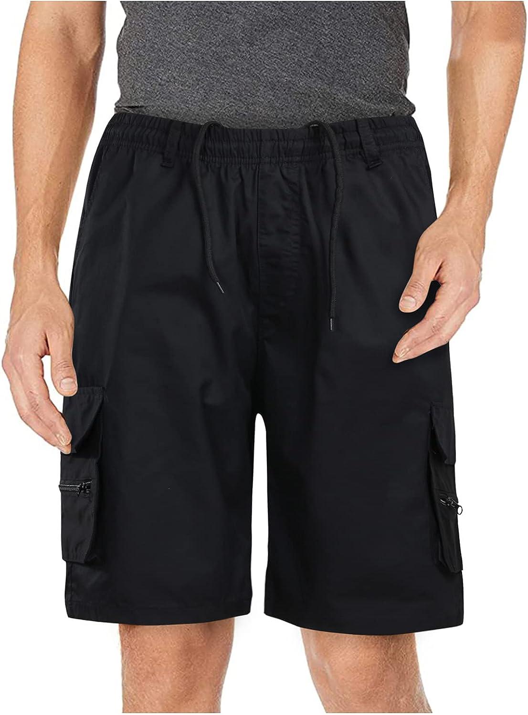 Beshion Cargo Shorts Men Short with Pocket,Men's Cargo Shorts Casual Outdoor Cargo Pants Solid Zipper Short Pants