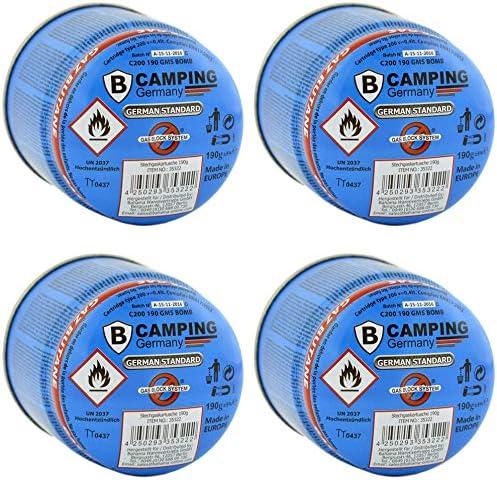 Media Blue 1590 – Cartucho de Gas butano 190 g con Gas Bloque Sistema Camping Gas