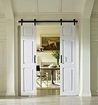 Composite Twin 6-Panel Barn Door - 42 in. x 84 in. (2 pcs - 21 in. x 84 in.)