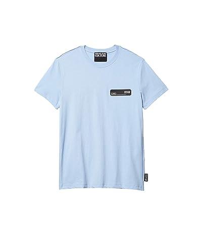 Versace Jeans Couture T-Shirt Rubber Logo Patch (Light Blue) Men