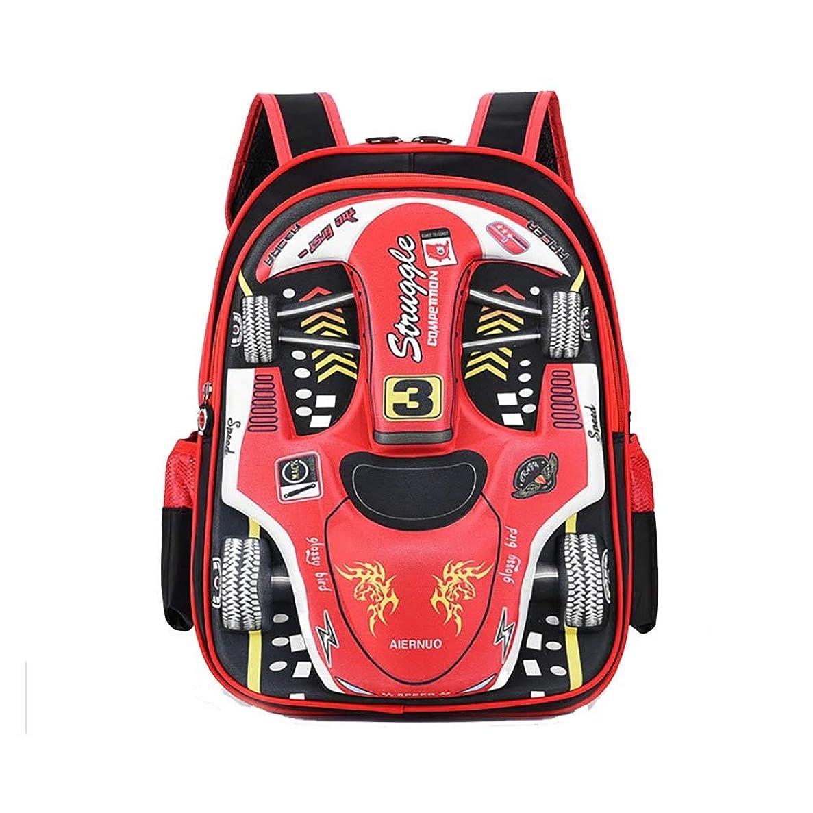 絶え間ない横に失敗ZHAOXHDP 子供用スクールバッグ キャンパスバックパックキッズリュックサック学生バックパック防水3Dバックパック2色 キャンパスバックパック (Color : Red)