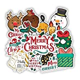 Endibast Christmas New Year Set Lovely Full Santas Wall Window Decor Ideas Stickers for Laptops Tumblers Books Luggages Cases Pack 20pcs