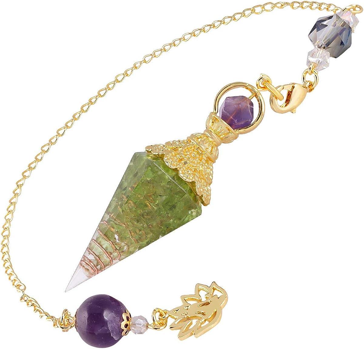 Nupuyai Orgone Crystal sale Pendulum for Large-scale sale Divination Go Reiki Dowsing