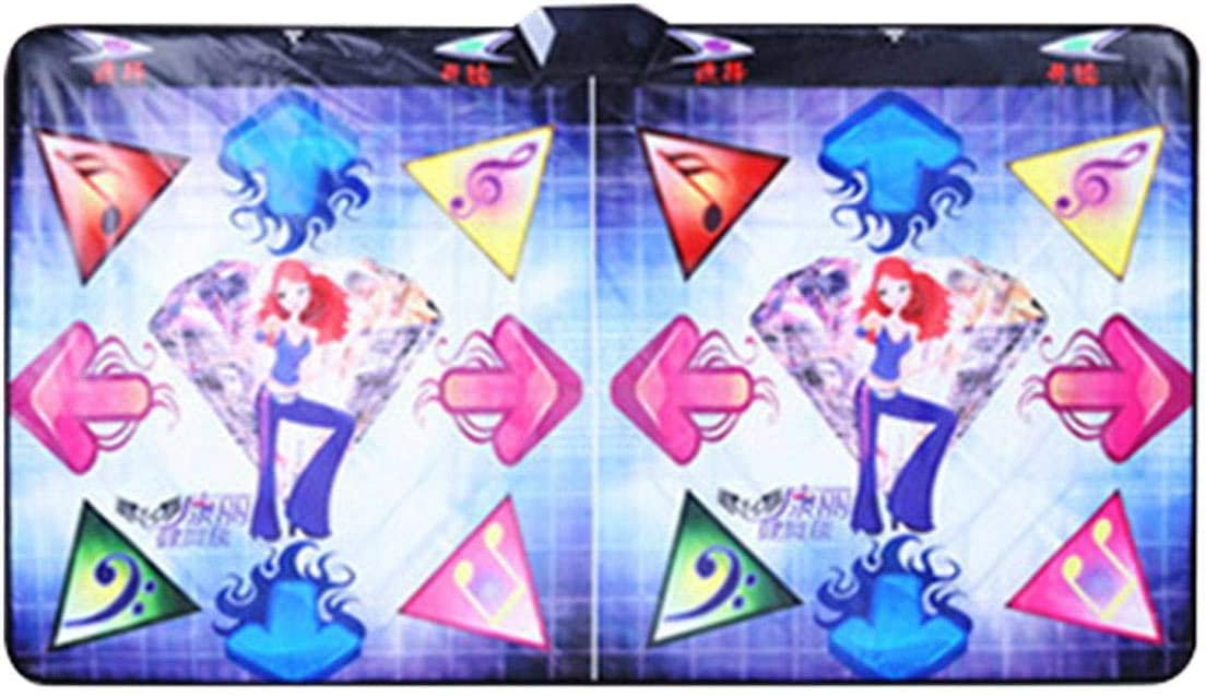 Compatible with TV//PC Early Education Toys for Baby Girls Boys CANCYCC Double Dance Mat,English OS,Equipped with hundreds of music for dance and many games with remote control handle,Plug and Play