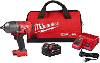 Milwaukee 2767-21B M18 FUEL 18-Volt Lithium-Ion Brushless Cordless 1/2 in. Impact Wrench w/Friction Ring (2767-20) w/One X...