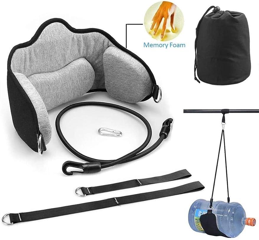 インキュバス委任する高度ハンモック、ネックハンモック、およびヘッド-首の痛みの緩和と理学療法のための携帯用頸部牽引装置