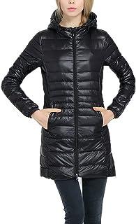 Lukitty Women's Hooded Packable Down Coat Lightweight Long Puffer Jacket Parka