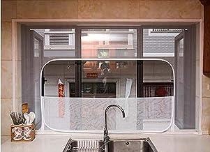 Window Screen Mesh Netto Bescherming voor Kat met rits, Semi-Transparant Scherm Zelfklevende Netting Houd Vliegen/Muggen O...