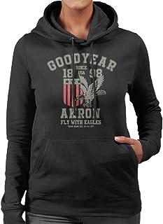 Goodyear Akron Fly with Eagles huvtröja för kvinnor