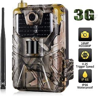 3G MMS SMTP SMS Cámaras de Caza 16MP 1080p Cámaras de infrarrojos con visión nocturna Móvil Celular de la fauna inalámbrica cámaras de visión nocturna Pir 0.3s gatillo de velocidad IP65 a prueba de