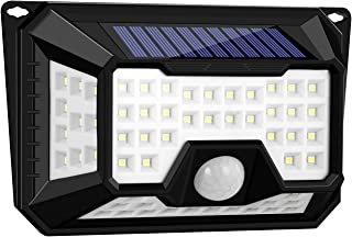 MTOP 66 LED Super Bright Solar Lights Outdoor, Solar Powered Motion Sensor Lights Waterproof & Wire Free Wall Lights for F...