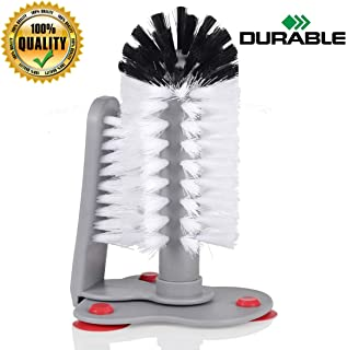 Glass Cup Washer With Double Bristle Brush for Bar Kitchen Sink