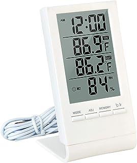 XYXZ Mini Higrómetro Digital LCD Termómetro Interior Reloj Despertador Calendario Estación Meteorológica Reloj De Escritor...