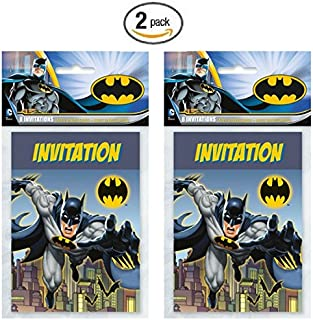 Batman 8ct Party Invitations - Pack of 2