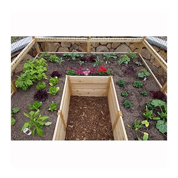 Square Raised Garden with Deer Fence Kit 2