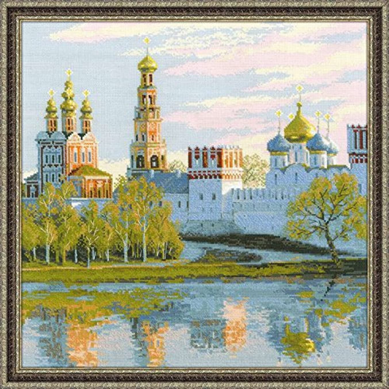 RIOLIS 1430 Novodevichy Convent, Moscow, Russia - Counted Cross Stitch Kit - 15.75